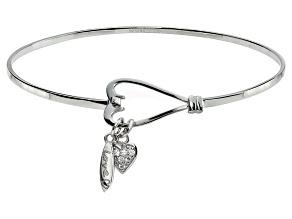 Bella Luce ® .18ctw Diamond Simulant Rhodium Over Silver inspirational Bangle
