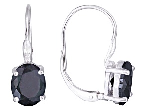 Bella Luce ® 8.10ctw Oval Rhodium Over Sterling Silver Lever Back Earrings