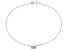 .27ctw Sterling Silver 9 inch Butterfly Anklet