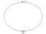 .48ctw Sterling Silver 9 inch Flower Anklet