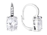 Bella Luce ® 10.28ctw Rhodium Over Sterling Silver Leverback Earrings
