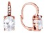 Bella Luce ® 10.28ctw Oval And Round 18k Rose Gold Over Sterling Silver Lever Back Earrings