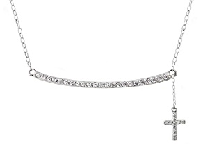 Bella Luce ® 0.61ctw Rhodium Over Sterling Silver 16
