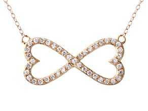 Bella Luce ® .82ctw Round 18k Rose Gold Over Sterling Silver infinity Necklace