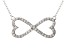 Bella Luce ® .82ctw Round Rhodium Over Sterling Silver infinity Necklace