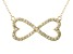 Bella Luce ® .82ctw Round 18k Yellow Gold Over Sterling Silver infinity Necklace