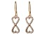 Bella Luce ® 1.26ctw Round 18k Rose Gold Over Sterling Silver infinity Earrings
