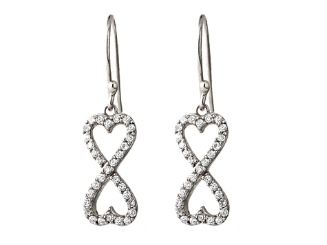 Bella Luce 1 26ctw Round Rhodium Over Sterling Silver Infinity Earrings