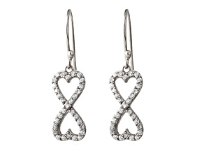 Bella Luce ® 1.26ctw Round Rhodium Over Sterling Silver infinity Earrings