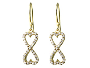 Bella Luce ® 1.26ctw Round 18k Yellow Gold Over Sterling Silver infinity Earrings