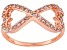 Bella Luce ® .68ctw 18k Rose Gold Over Sterling Silver infinity Ring