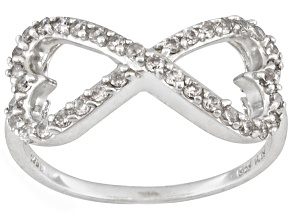 Bella Luce ® .68ctw Round Rhodium Over Sterling Silver infinity Ring