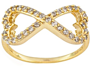 Bella Luce ® .68ctw 18k Yellow Gold Over Sterling Silver infinity Ring