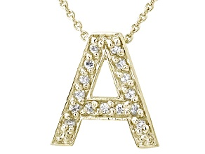 Bella Luce ® 0.44ctw Round 18k Yellow Gold Over Sterling Silver initial A Necklace