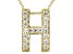 Bella Luce ® .49ctw Round 18k Yellow Gold Over Sterling Silver Block Letter H Necklace