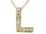 Bella Luce ® .26ctw Round 18k Yellow Gold Over Sterling Silver Block Letter L Necklace