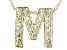 Bella Luce ® .60ctw Round 18k Yellow Gold Over Sterling Silver Block Letter M Necklace