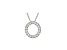 Bella Luce ® .52ctw Round Rhodium Over Sterling Silver Block Letter O Necklace