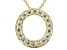 Bella Luce ® .52ctw Round 18k Yellow Gold Over Sterling Silver Block Letter O Necklace