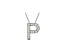 Bella Luce ® .46ctw Round Rhodium Over Sterling Silver Block Letter P Necklace