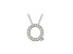Bella Luce ® .55ctw Round Rhodium Over Sterling Silver Block Letter Q Necklace