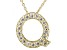 Bella Luce ® .55ctw Round 18k Yellow Gold Over Sterling Silver Block Letter Q Necklace