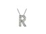 Bella Luce ® .44ctw Round Rhodium Over Sterling Silver Block Letter R Necklace