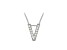 Bella Luce ® .37ctw Round Rhodium Over Sterling Silver Block Letter V Necklace