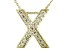 Bella Luce ® .49ctw Round 18k Yellow Gold Over Sterling Silver Block Letter X Necklace