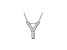 Bella Luce ® .34ctw Round Rhodium Over Sterling Silver Block Letter Y Necklace