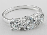 Bella Luce ® 2.09ctw Rhodium Over Sterling Silver Three Stone Ring
