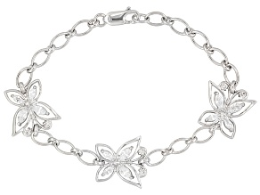 Bella Luce ® 2.32ctw Rhodium Over Sterling Silver Butterfly 7.25