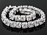 Bella Luce ® White Diamond Simulant 38.22ctw Rhodium Over Sterling Silver Bracelet