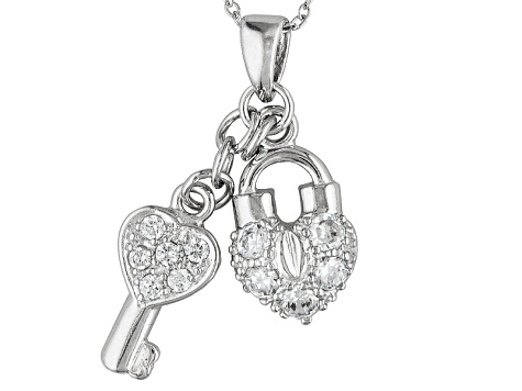 Bella Luce ® .96ctw Rhodium Over Sterling Silver Pendant With 18 inch Chain