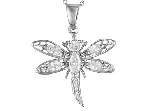 Bella Luce ® 1.35ctw Rhodium Over Sterling Silver Pendant With 18 inch Chain