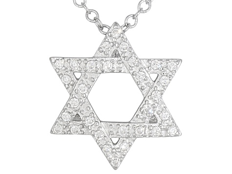 Bella luce 27ctw rhodium over sterling silver star of david bella luce 27ctw rhodium over sterling silver star of david pendant with 18 inch aloadofball Choice Image