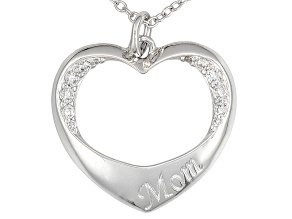 Bella Luce ® .30ctw Rhodium Plated Sterling Silver Pendant With 18 inch Chain