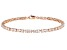 White Cubic Zirconia 18K Rose Gold Over Silver Bracelet 8.91CTW