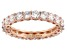 White Cubic Zirconia 18K Rose Gold Over Sterling Silver Ring 4.05CTW