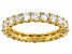 White Cubic Zirconia 18K Yellow Gold Over Sterling Silver Ring 4.05CTW