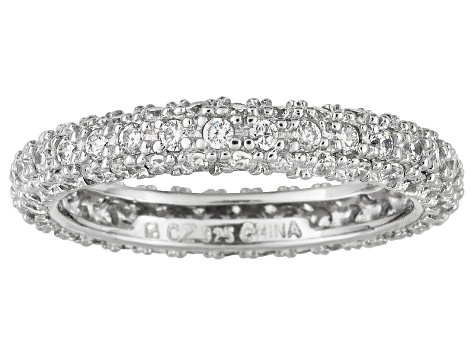 Bella Luce ® 2.11ctw Rhodium Over Sterling Silver Ring
