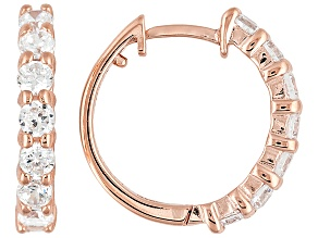 Bella Luce ® 1.51ctw 18k Rose Gold Over Sterling Silver Huggie Earrings