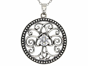 Bella Luce ® .77ct Oxidized Rhodium Over Sterling Silver Pendant With 18 inch Chain