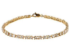 Bella Luce ® White Cubic Zirconia 7.92ctw Round 18k Yellow Gold Over Sterling Silver Bracelet