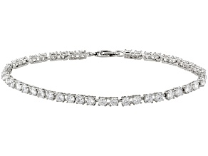 White Cubic Zirconia Platinum Over Sterling Silver Bracelet 7.92ctw