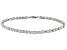 White Cubic Zirconia Platinum Over Sterling Silver Bracelet 7.92ctw