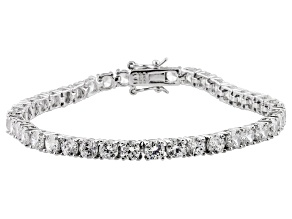 Bella Luce ® White Diamond Simulant 16.28ctw Platinum Over Sterling Silver Bracelet