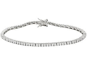 Bella Luce White Cubic Zirconia ® Min Of 4.46ctw Platinum Over Sterling Silver Bracelet