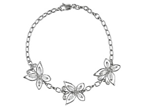 Bella Luce ® 2.32ctw Platinum Over Sterling Silver Butterfly Bracelet