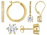 Bella Luce ® 7.42ctw 18k Yellow Gold Over Sterling Silver Set Of Three Earrings